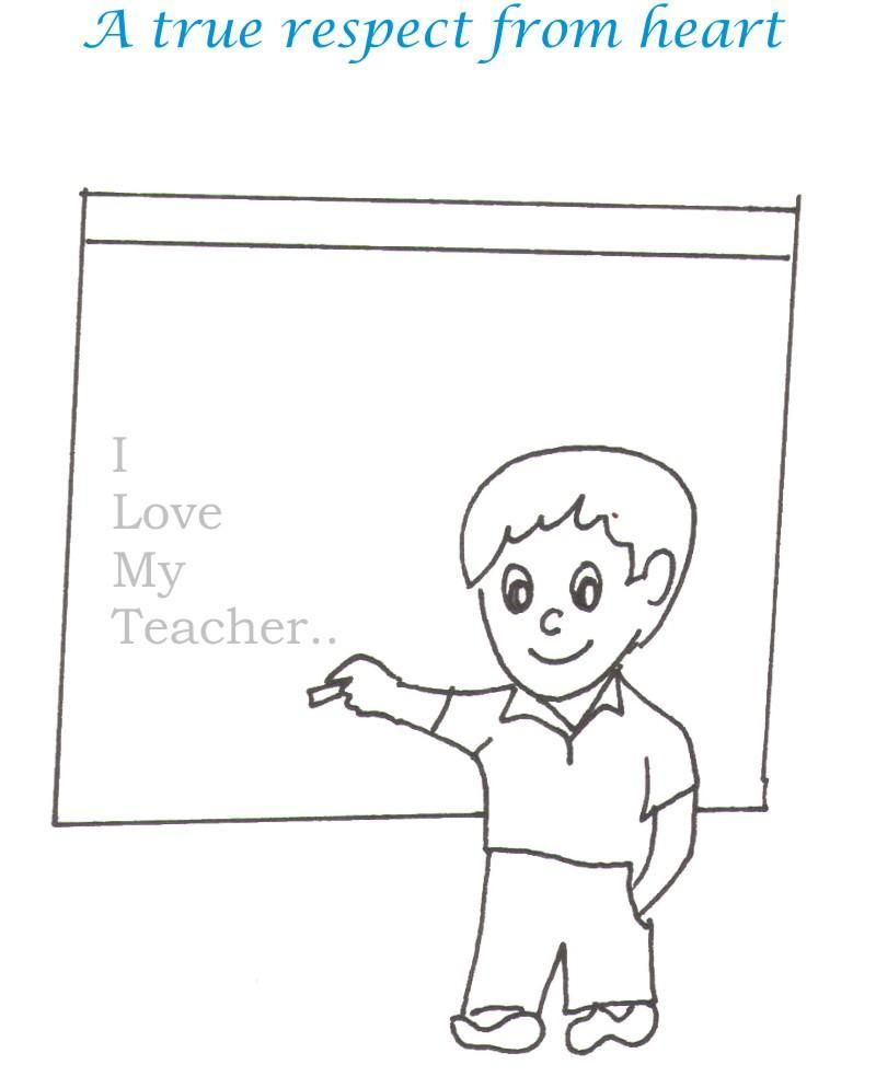 Teacher printable coloring page for kids 2
