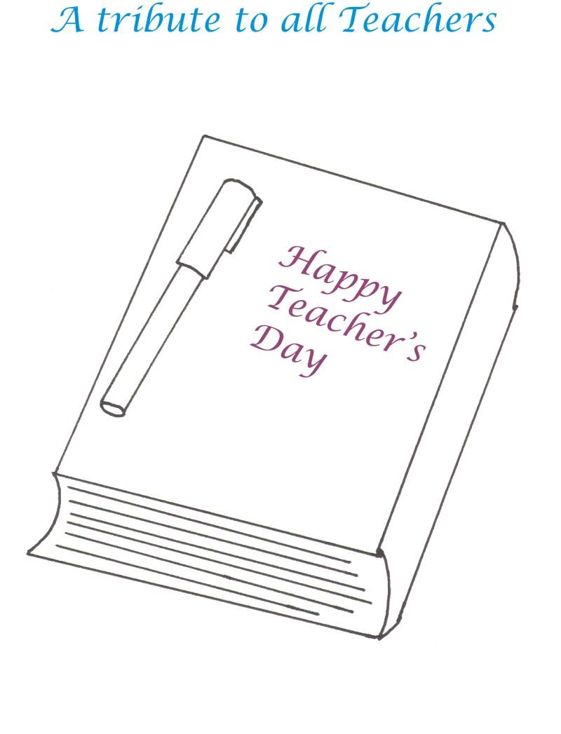 Teacher's day printable coloring page for kids 11