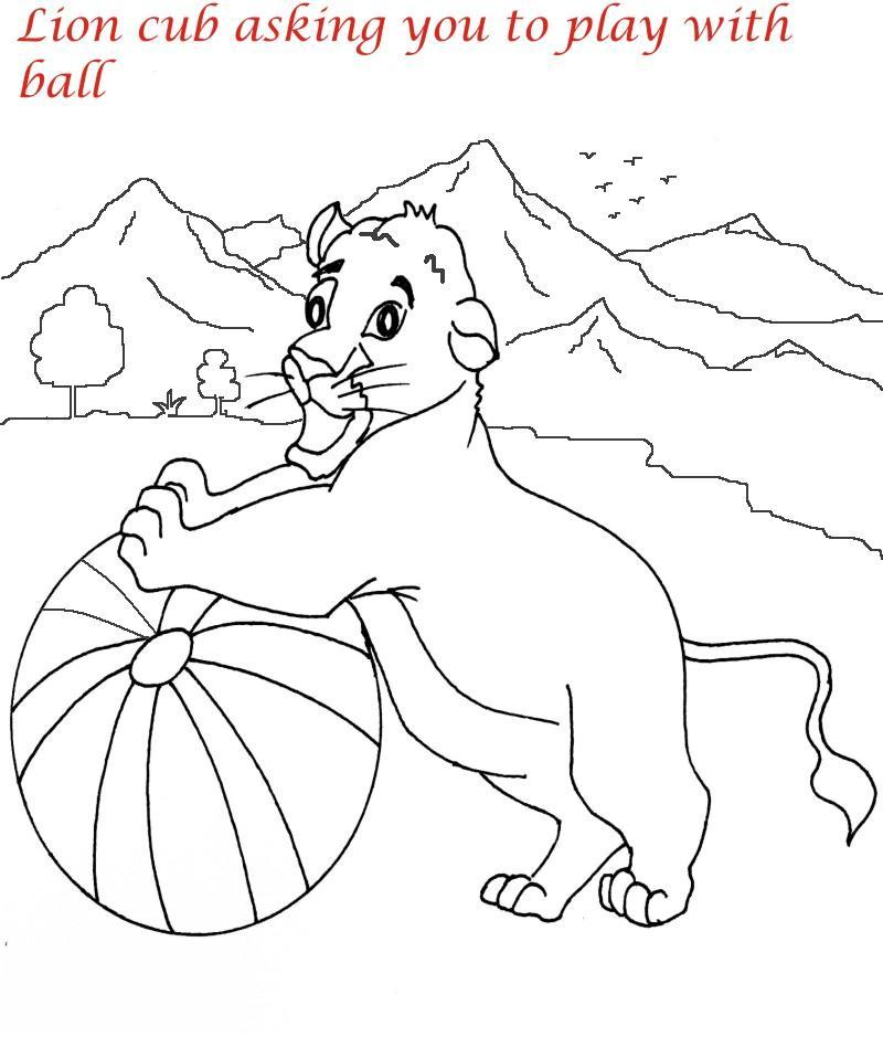 Lion family printable coloring page for kids 2