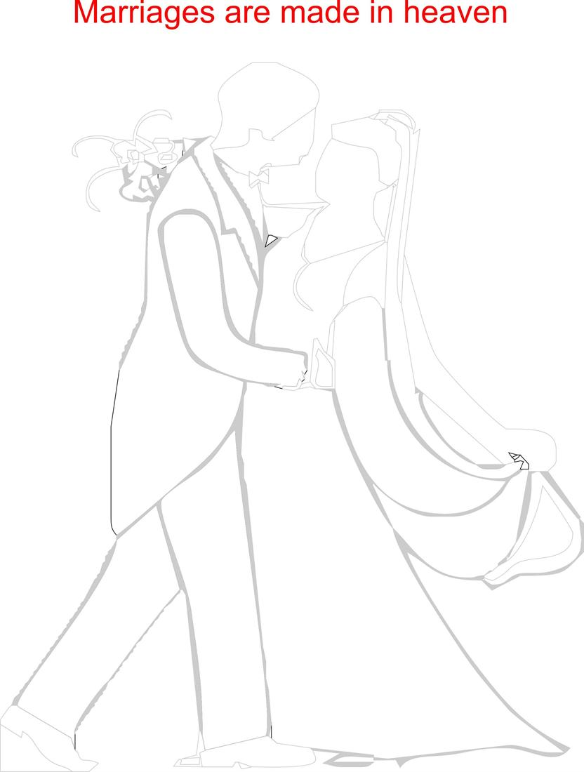 Married couple printable coloring page for kids