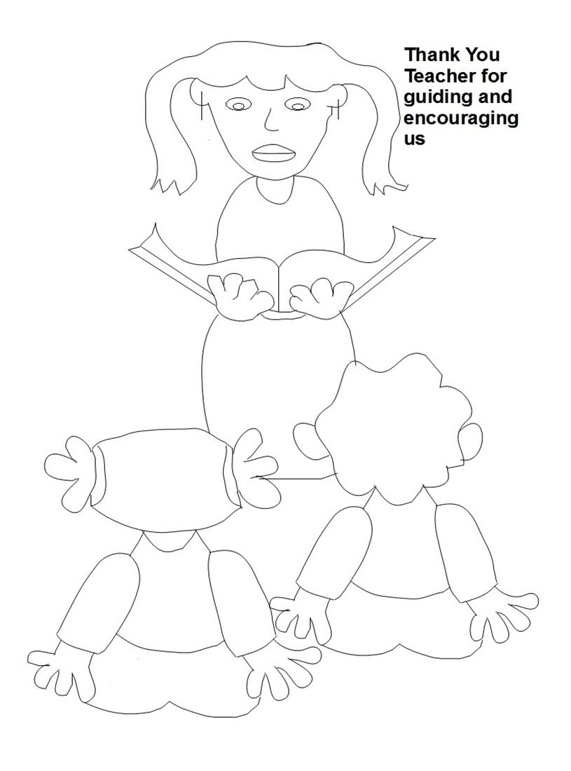 Teacher's day coloring worksheets for kids 6