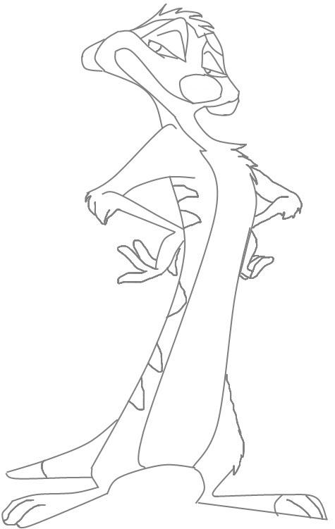 Timon Lion King character Coloring Page