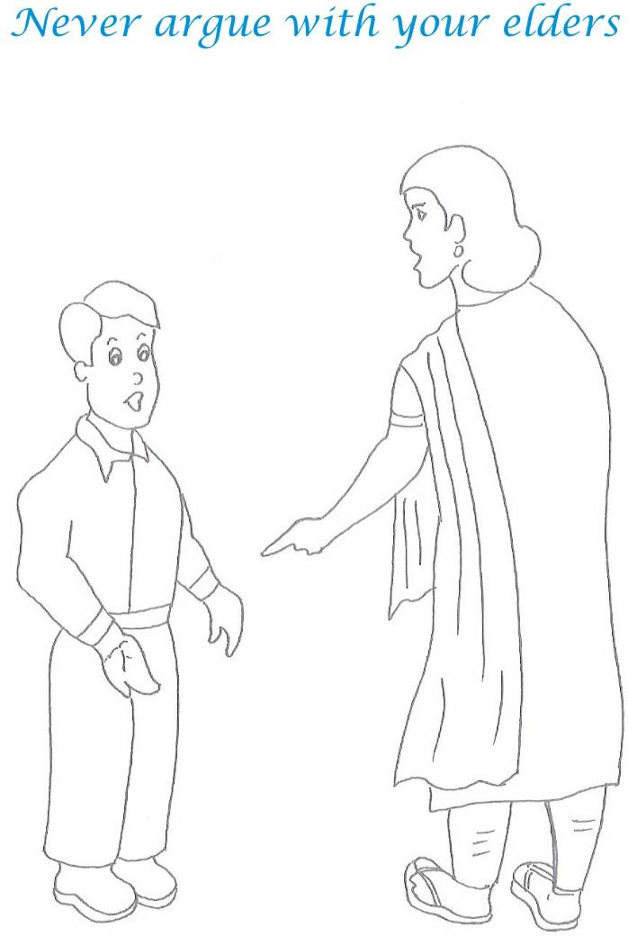 Etiquette for kids in home coloring page 17