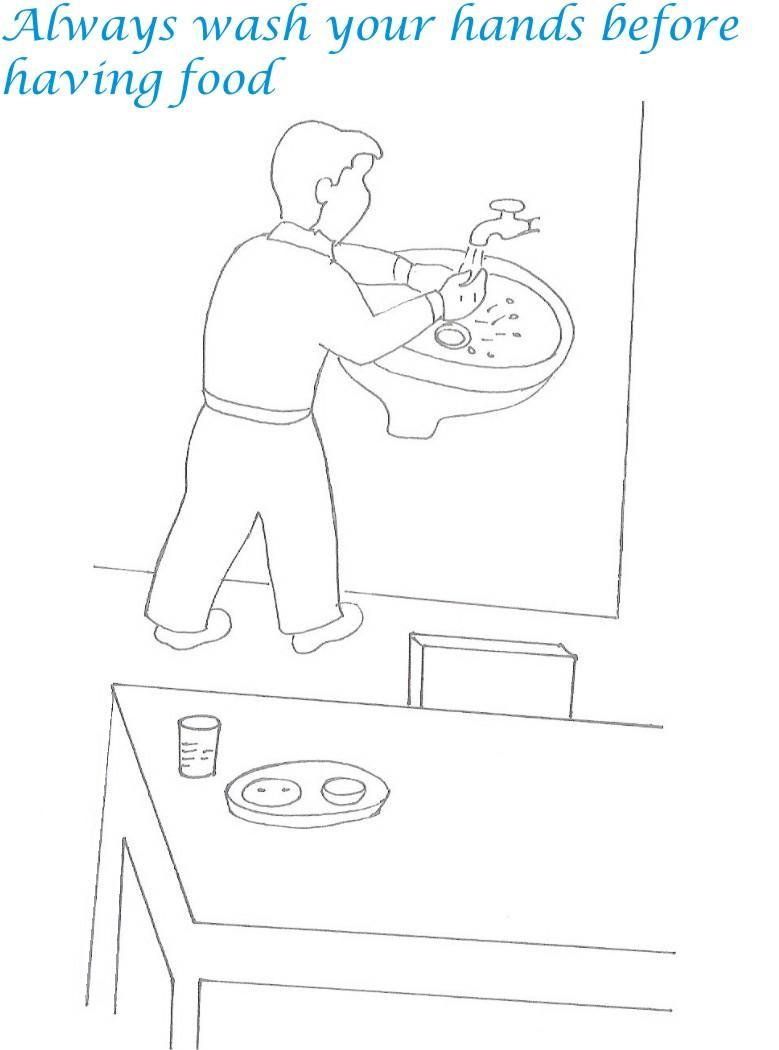 Etiquette for kids in home coloring page 25
