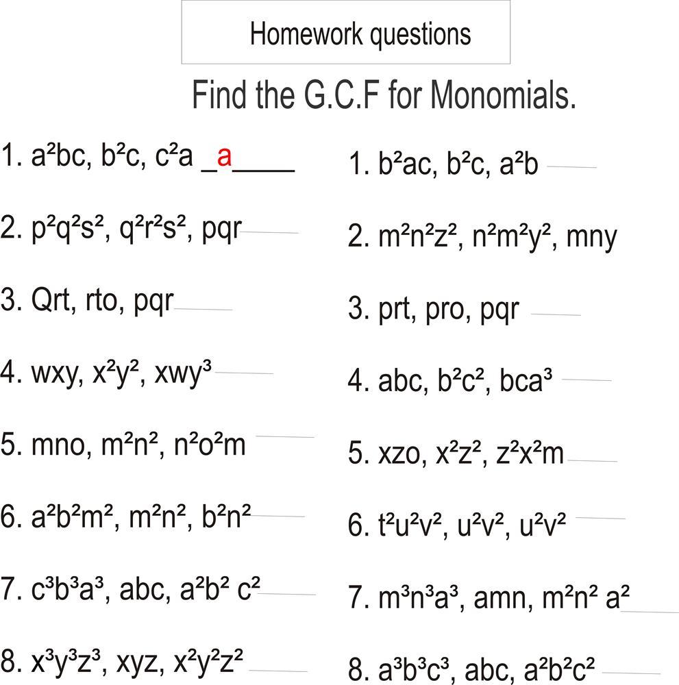 Greatest Common Factor Worksheet Pdf Grade 4   DIY Worksheet