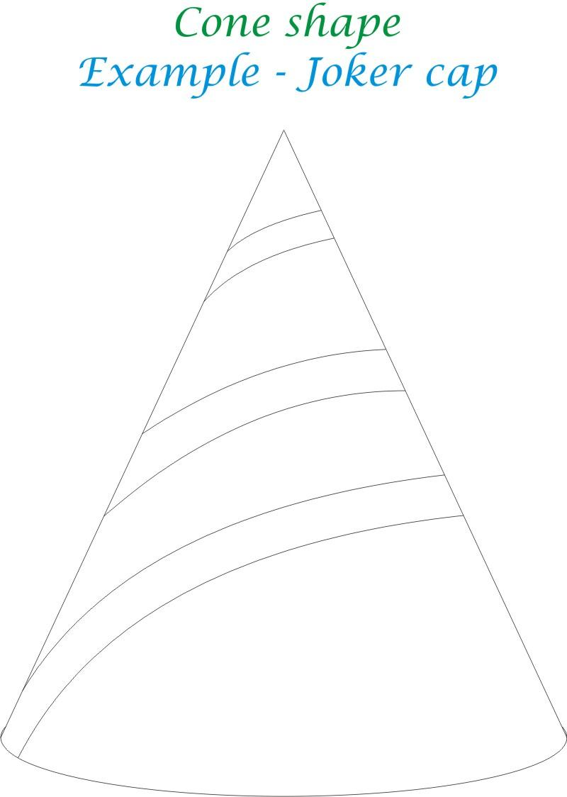 Conical Shape printable coloring page for kids