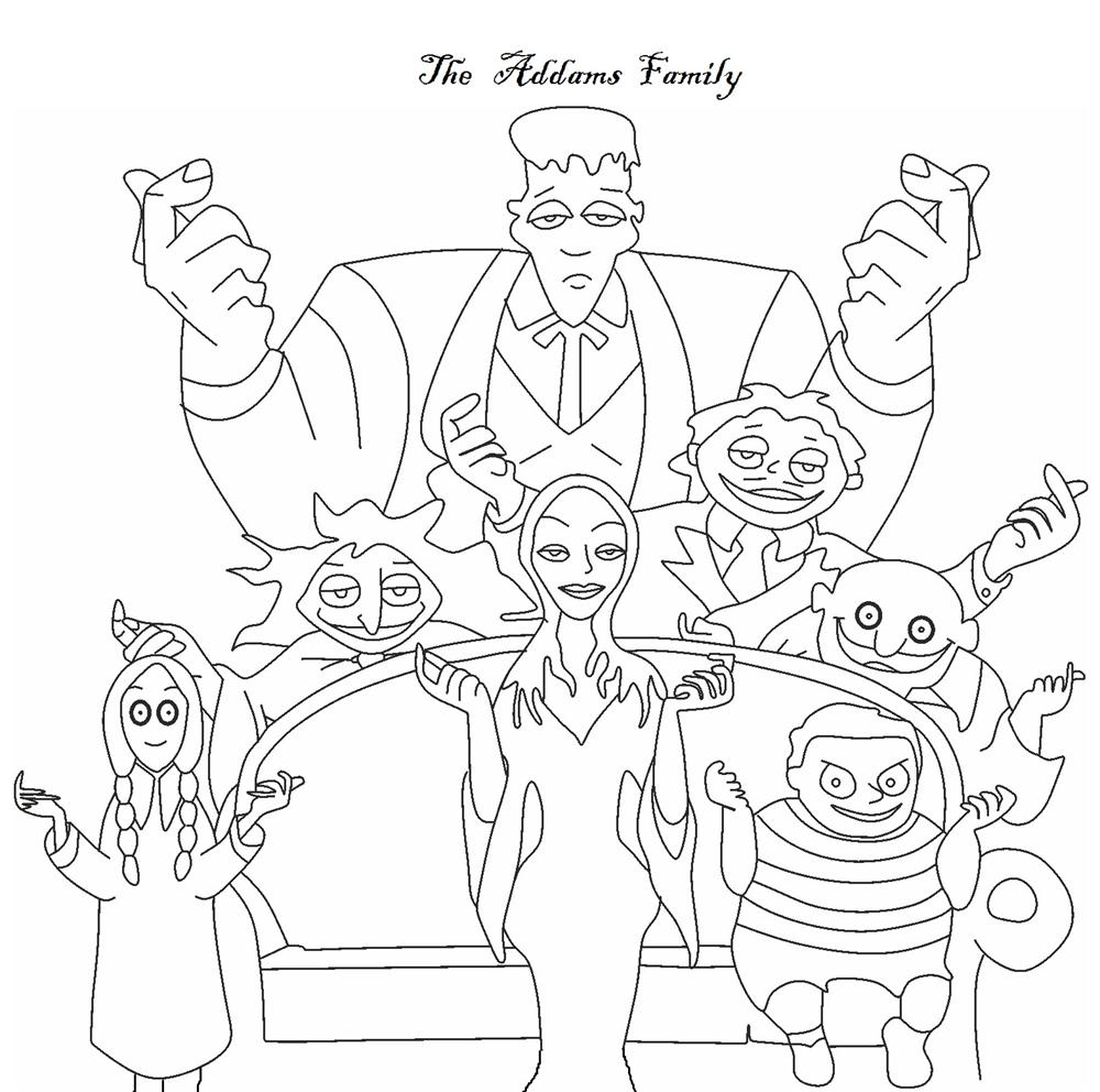 The Addams Family coloring pages