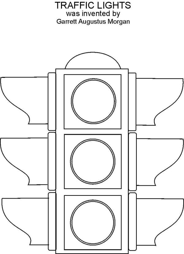 stop light coloring page # 2