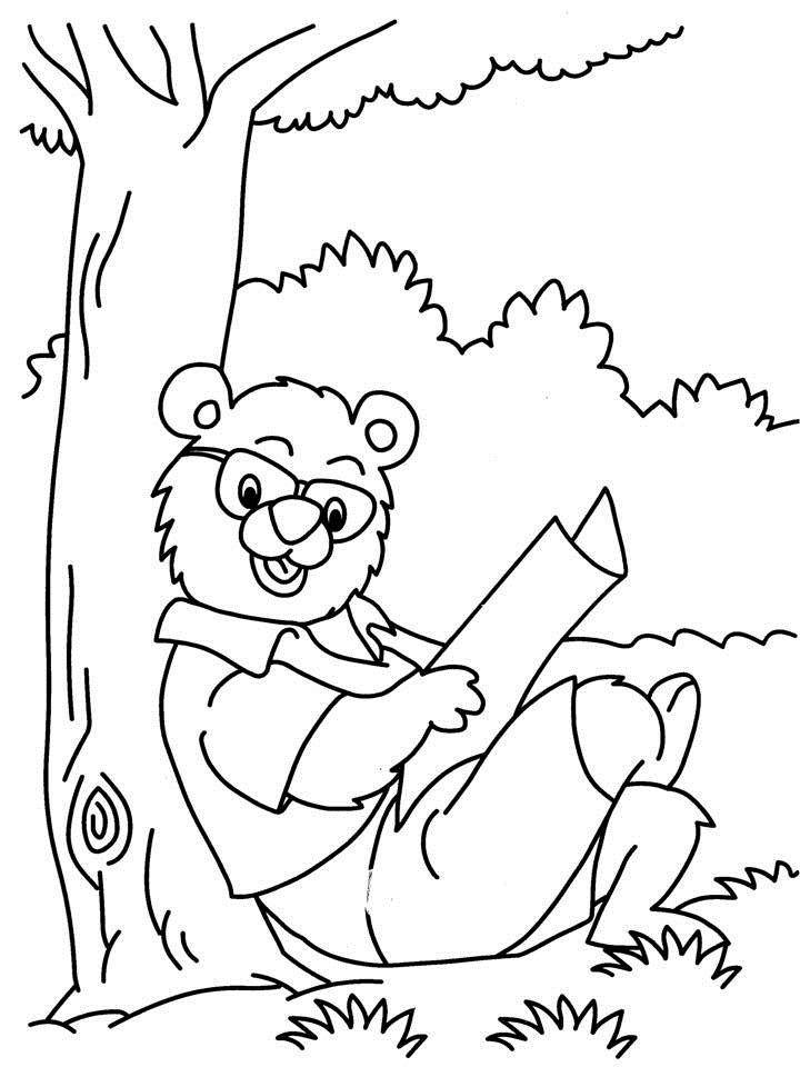 Reading Coloring Worksheets Coloring Pages