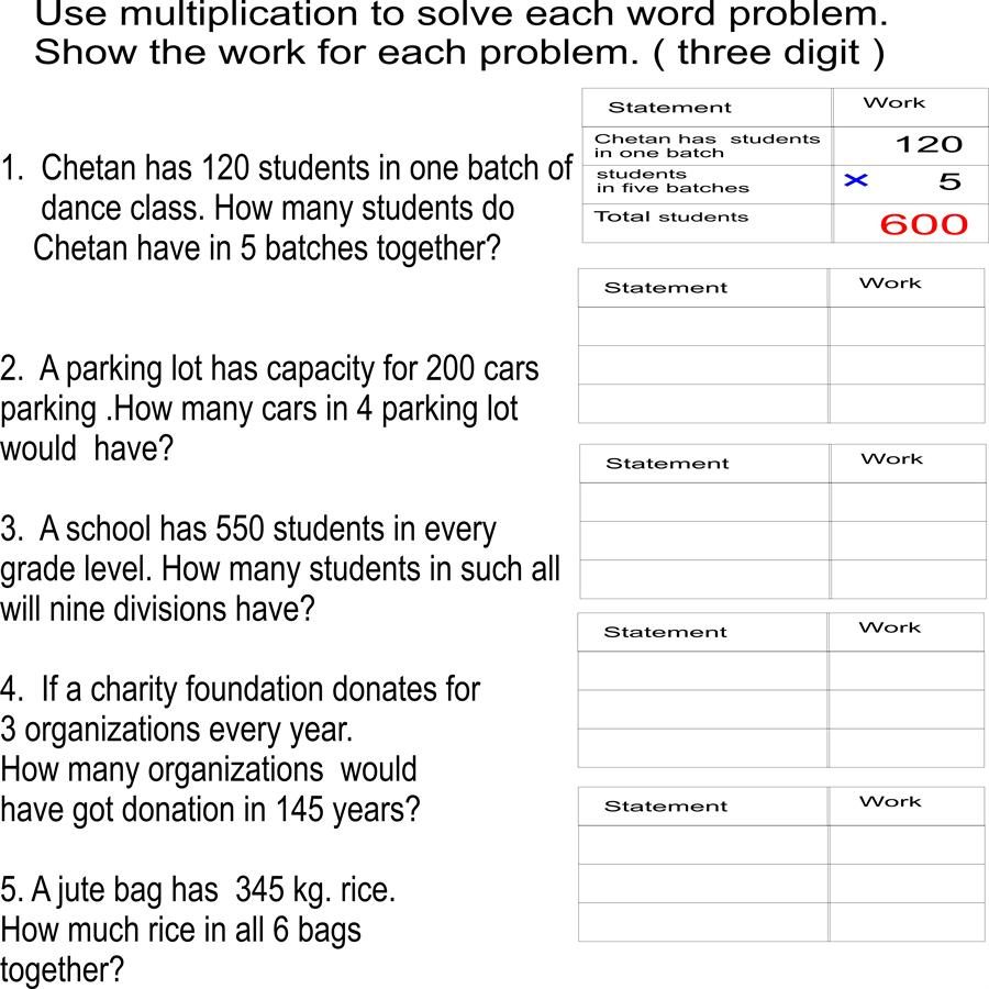 hight resolution of Word problems- 3
