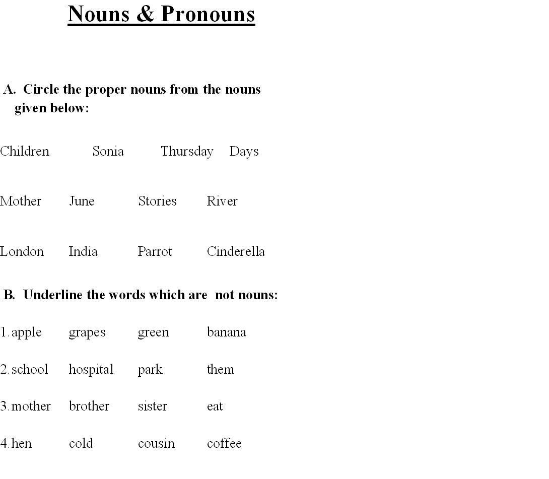 New Possessive Pronoun Practice Worksheets