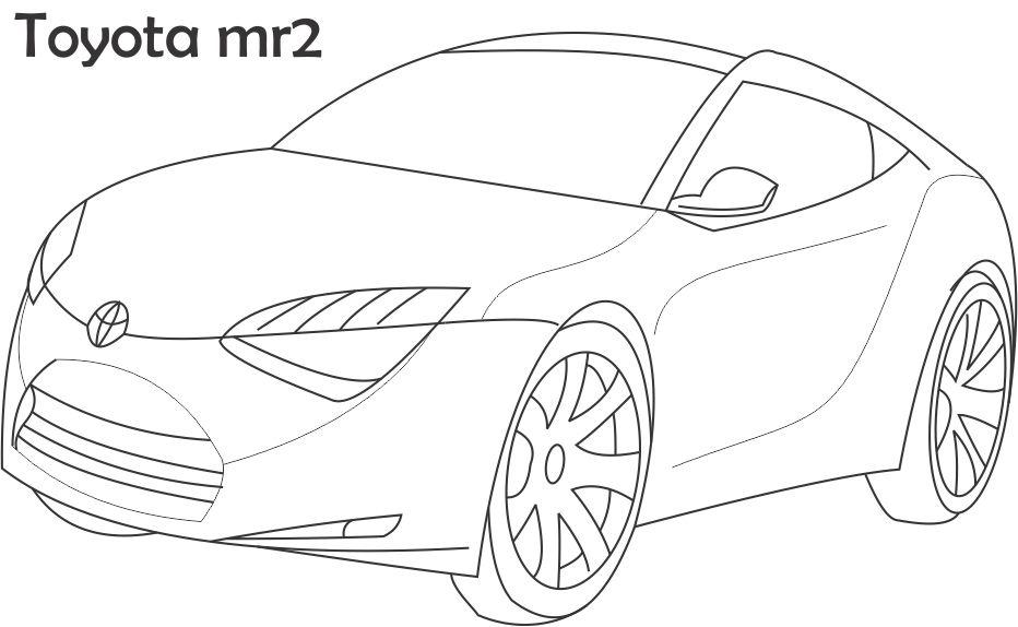 Toyota Prius Coloring Pages Coloring Pages