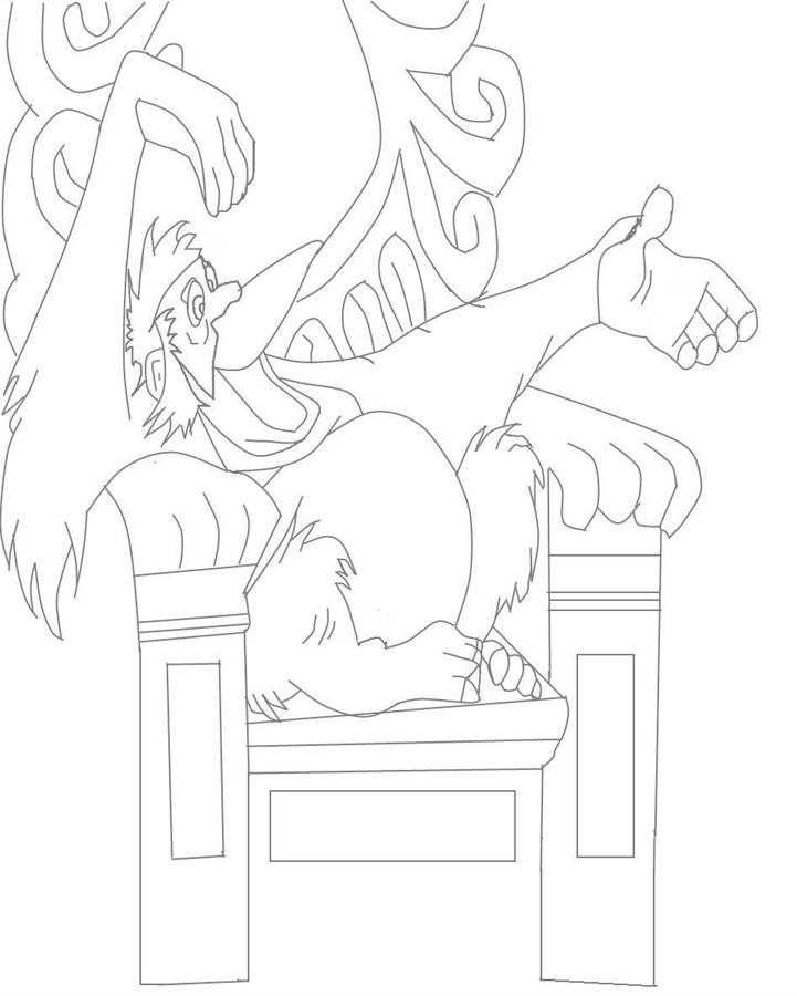 The Jungle Book cartoon characters coloring pages