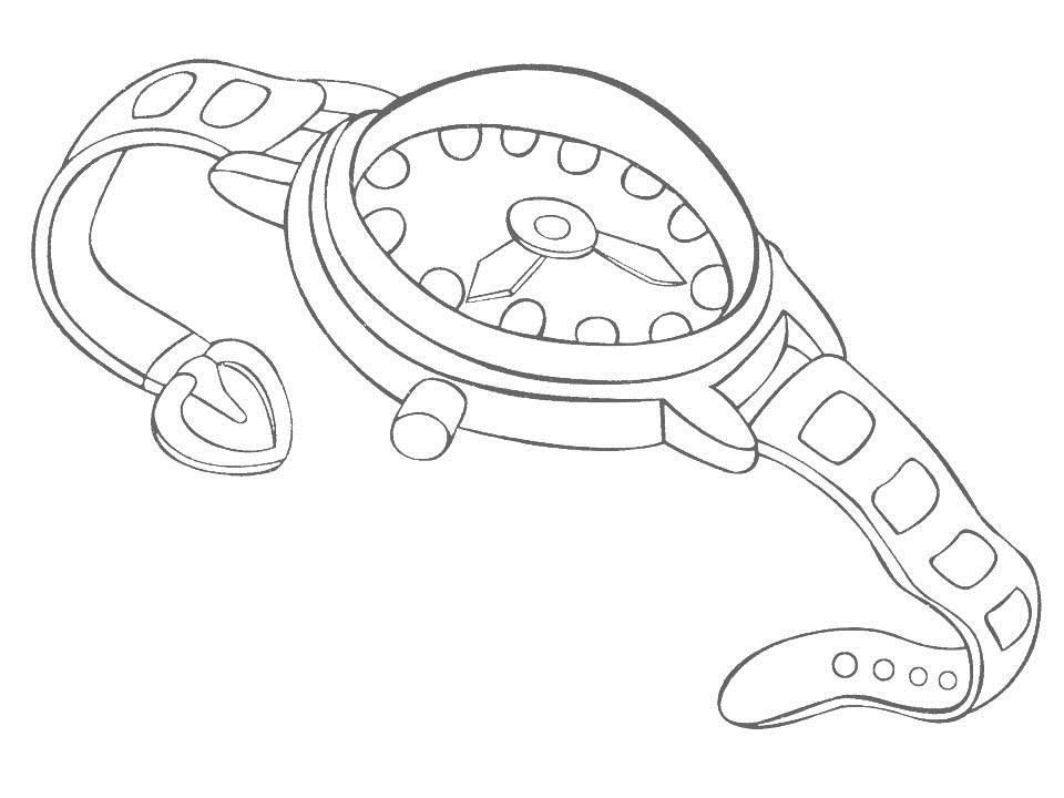 Wrist Watch For Coloring Coloring Pages