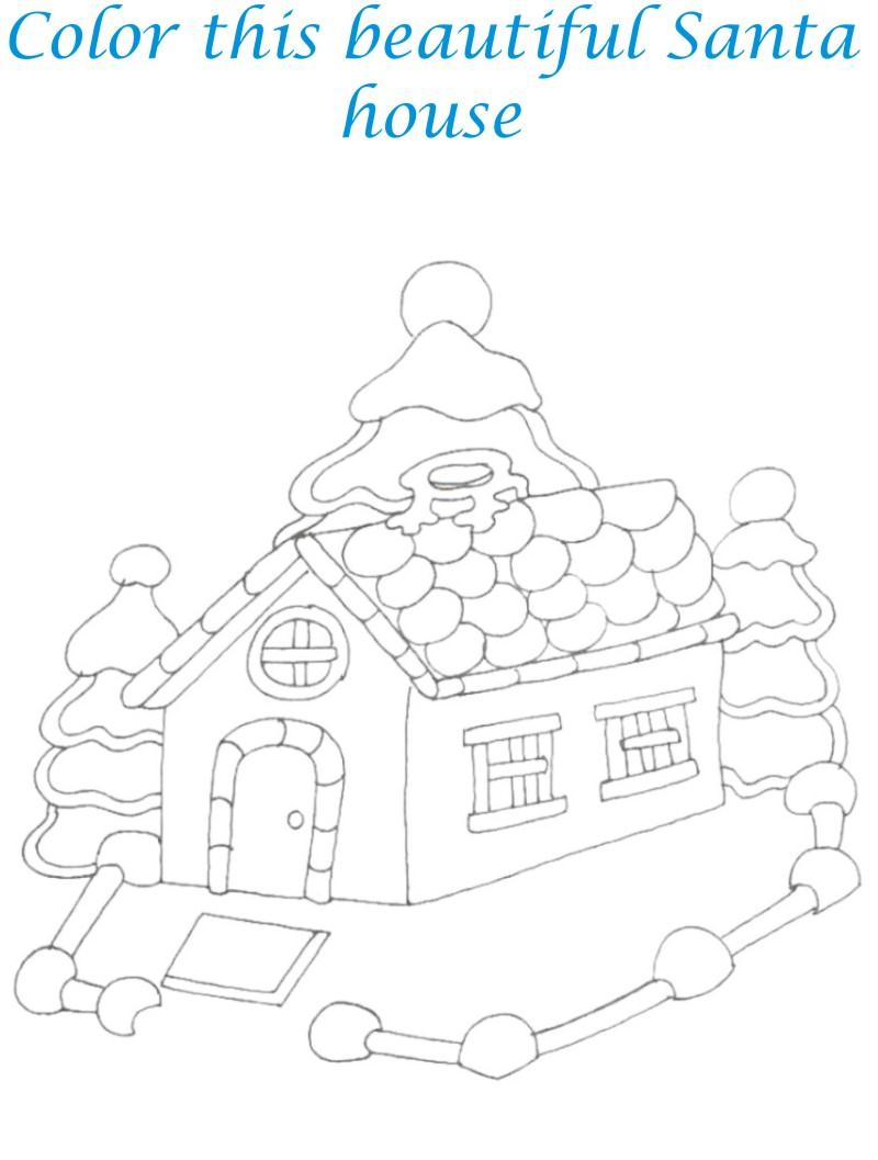 Sweet home coloring printable page for kids 1