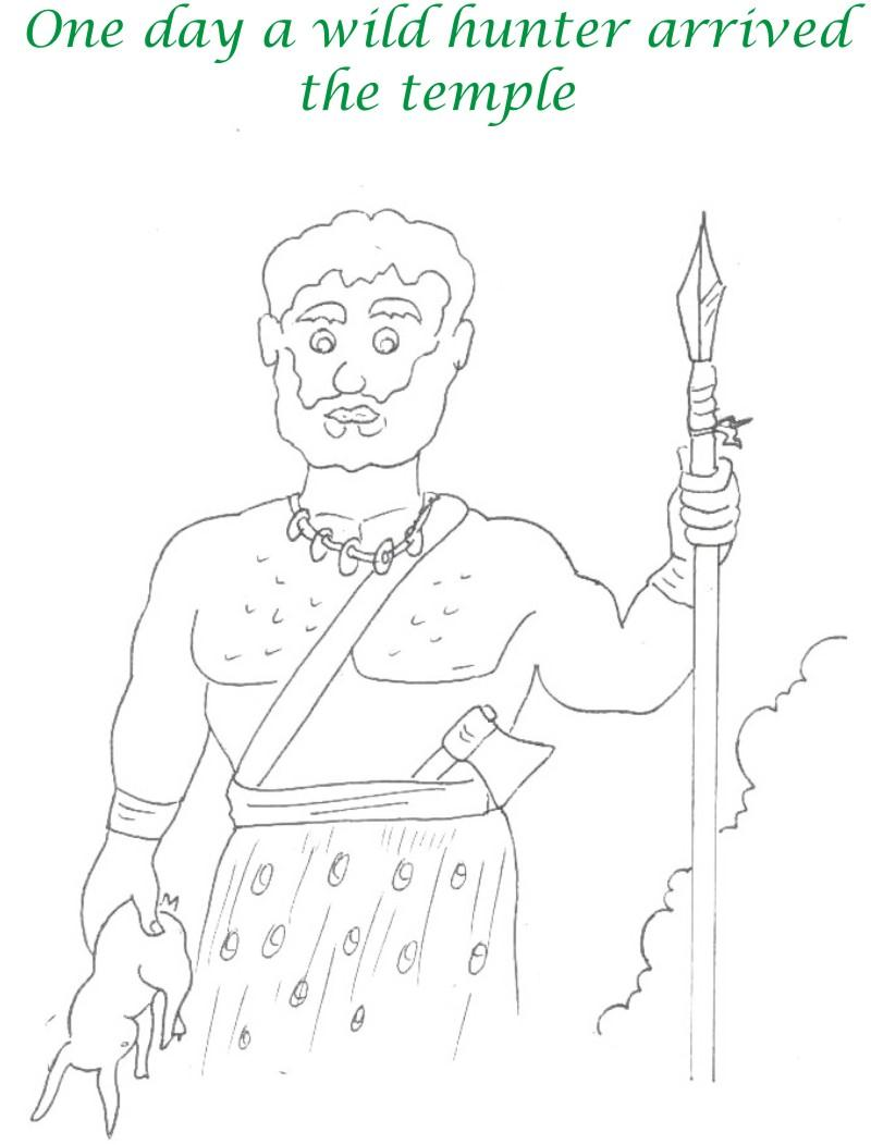 True devotee Story coloring page for kids 5