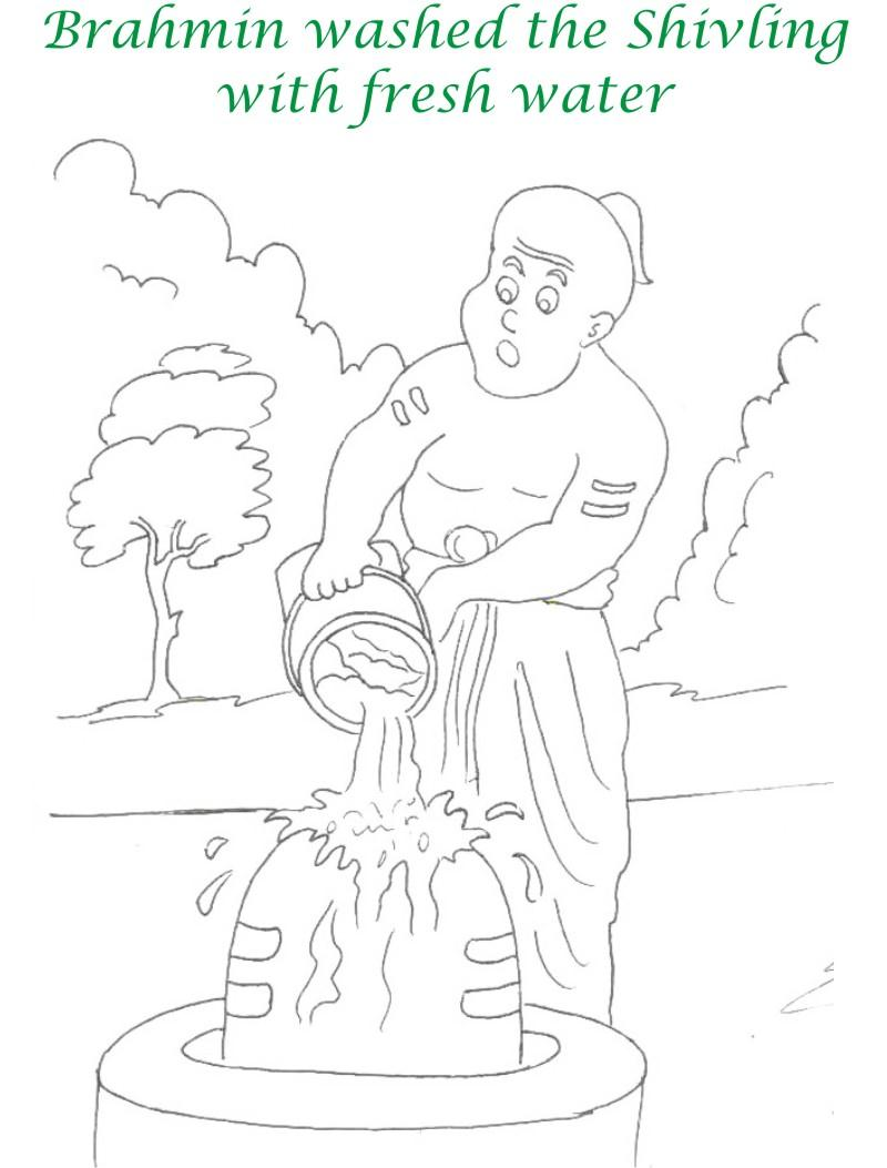 true devotee story coloring page for kids 10