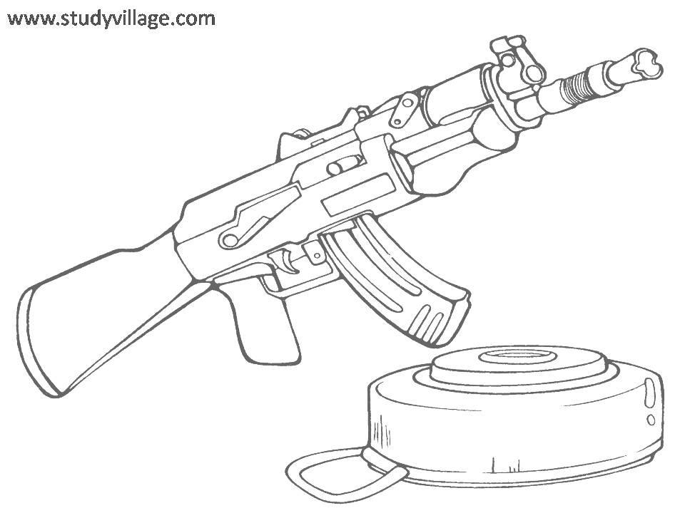 Military Weapon coloring page for kids 6