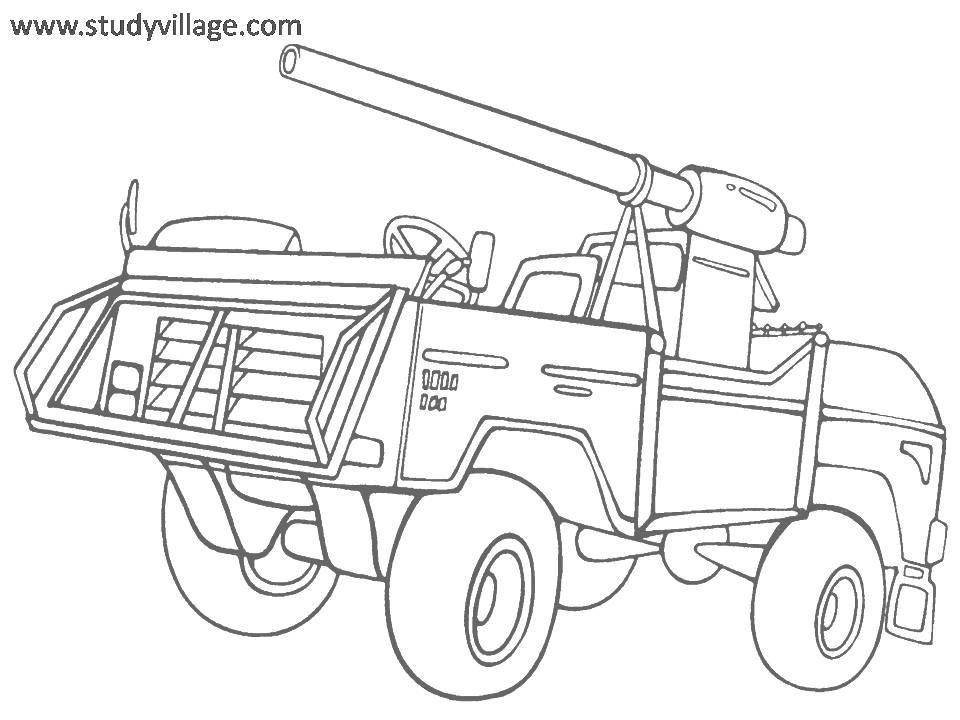 Military Weapon coloring page for kids 9