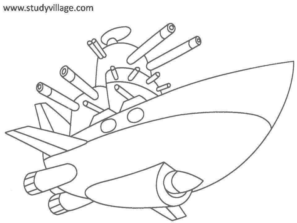 Military Weapon coloring page for kids 14
