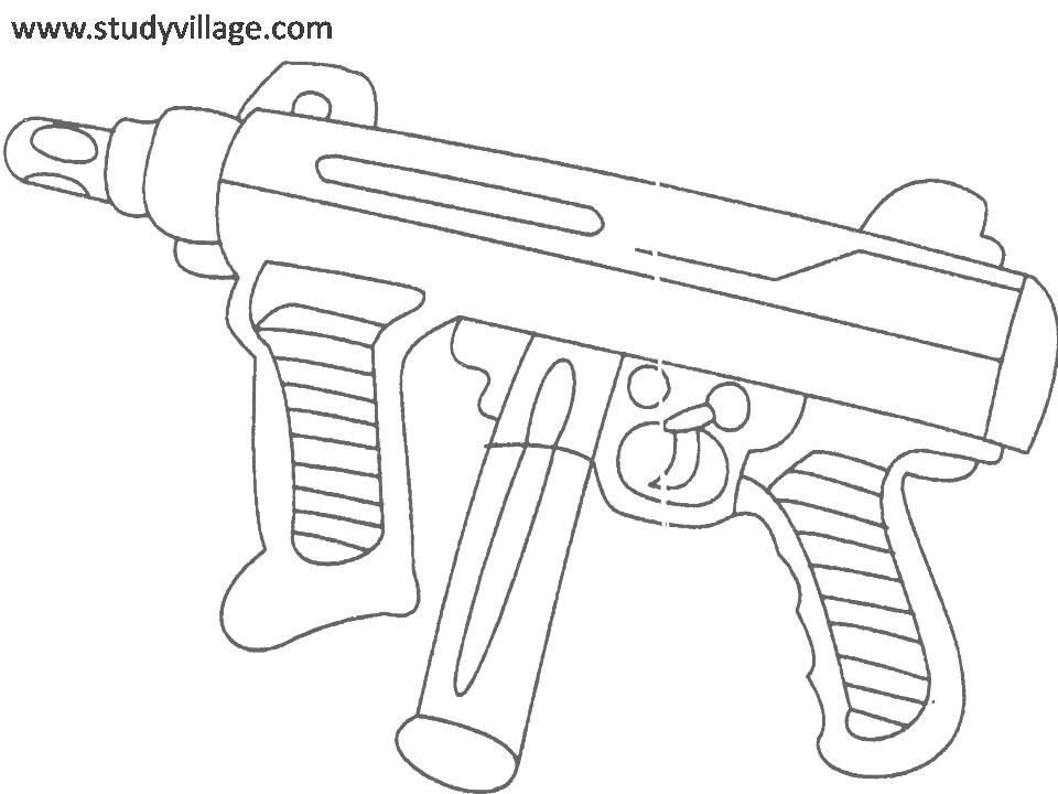 Military Weapon coloring page for kids 19