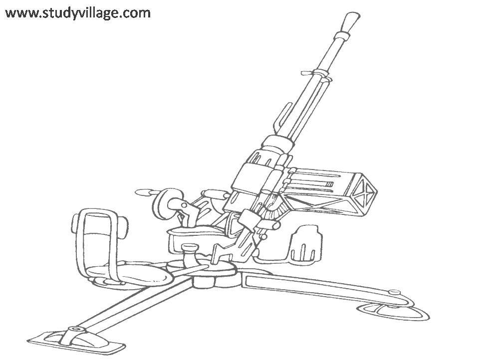 Military Weapon coloring page for kids 20