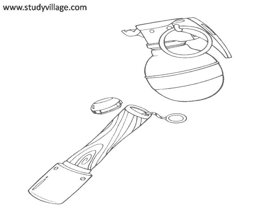 Military Weapon coloring page for kids 21