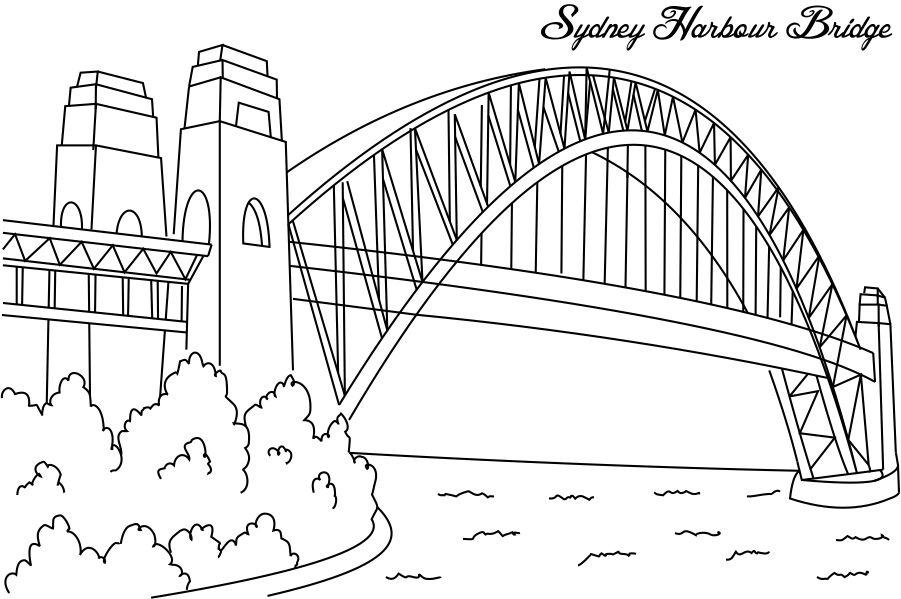 Coloring pages of great building structures and monuments