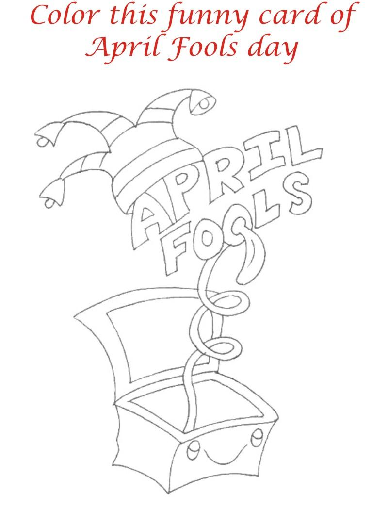 April Fool printable coloring pages for kids
