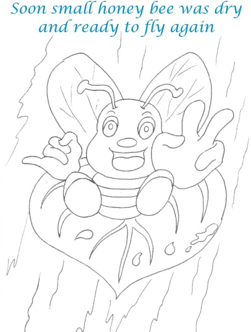 Bee and Dove story coloring page for kids 12