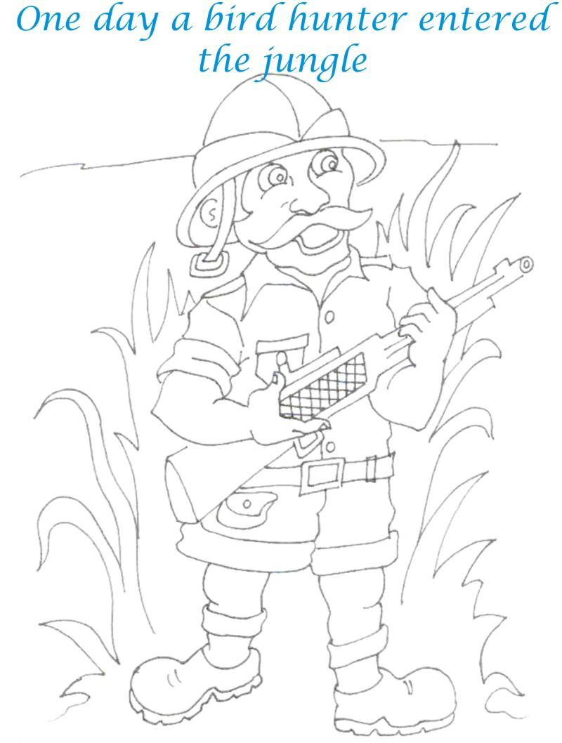 Bee and Dove story coloring page for kids 14