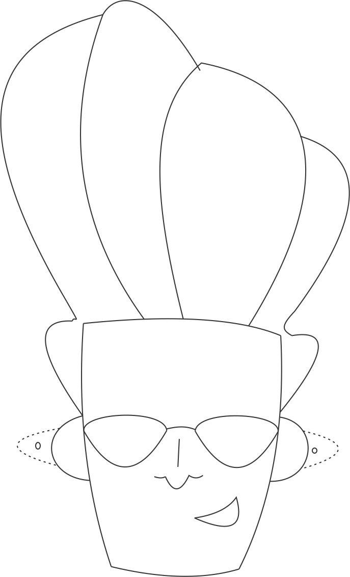 Johnny bravo printable coloring page for kids