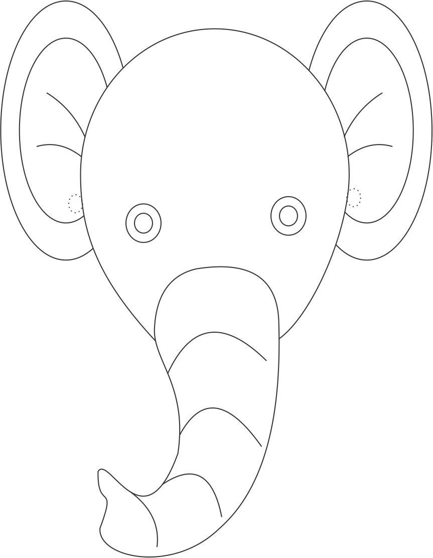 Elephant Mask Template