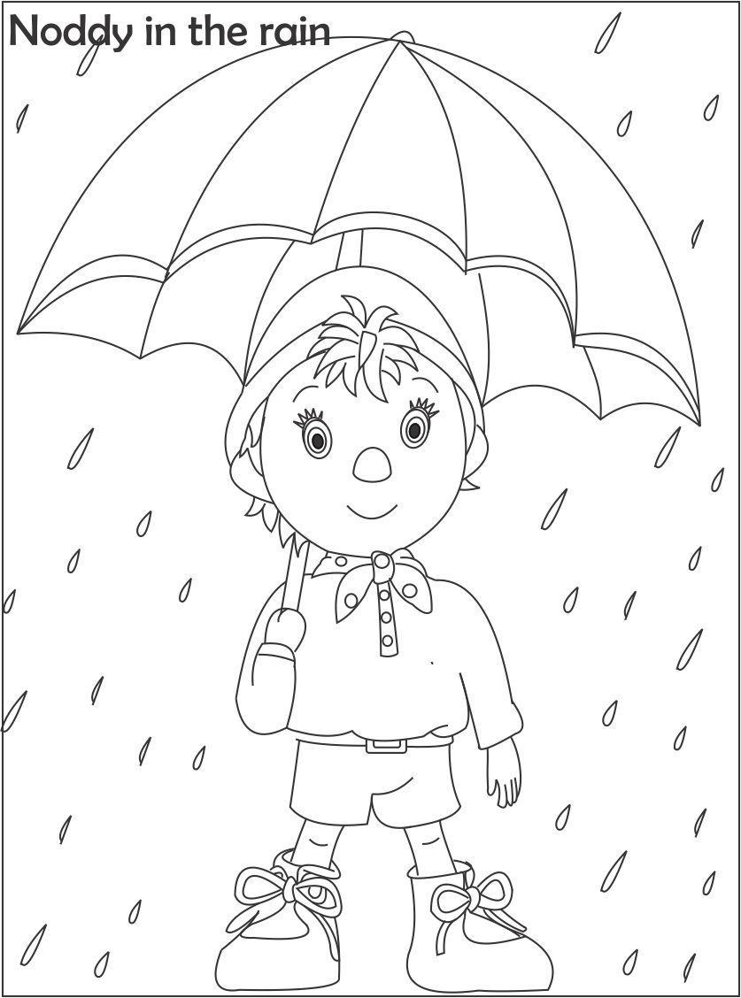 Noddy cartoon coloring pages