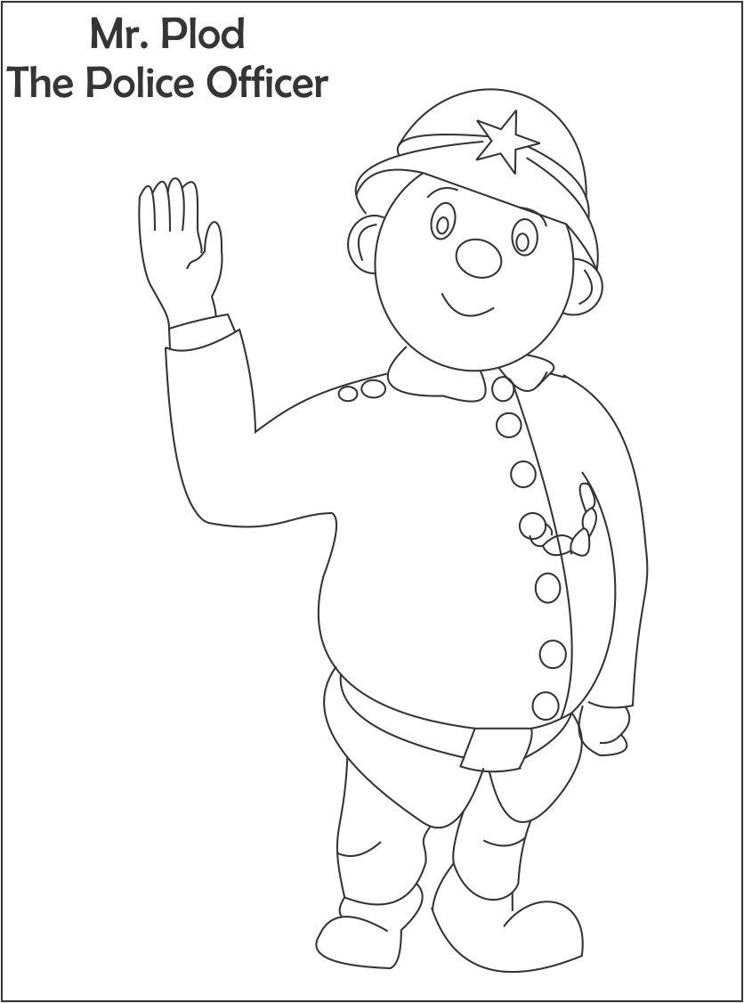 Mr. Plod printable coloring page for kids