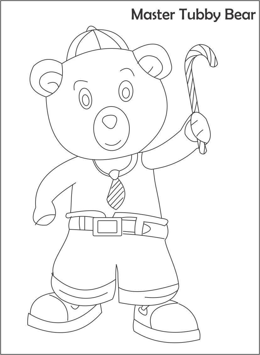 Master tubby bear printable coloring page for kids