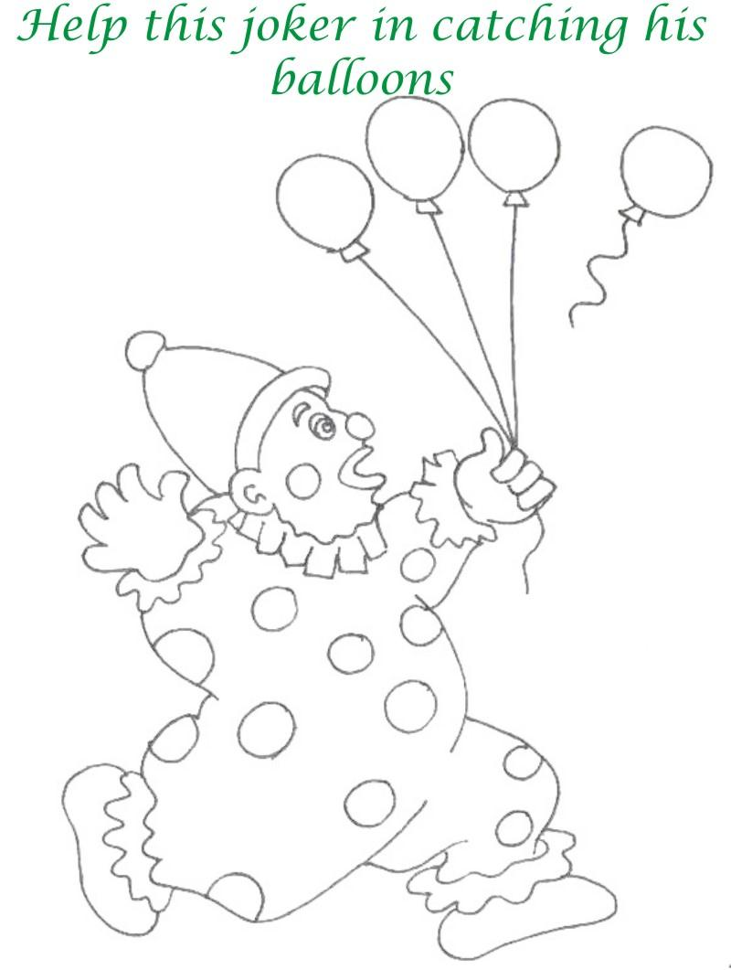 Circus printable coloring page for kids 11