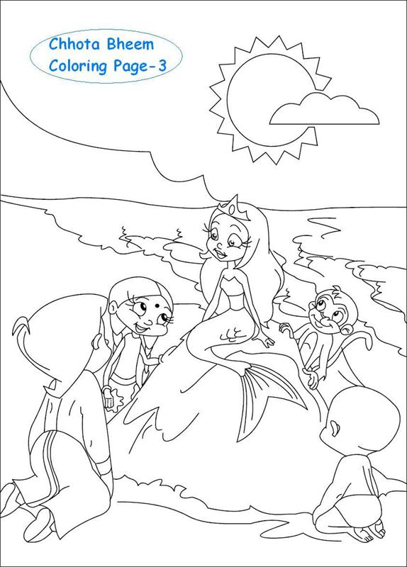 Chhota Bheem coloring page for kids 3