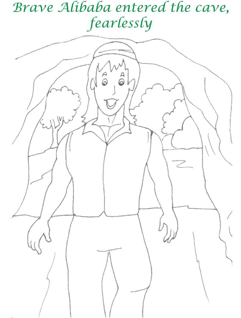Alibaba story printable coloring page for kids 18