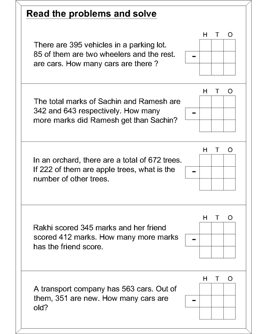 hight resolution of Math subtraction worksheets for kids