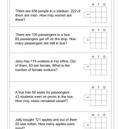 Word problem subtraction math worksheets [ 1100 x 880 Pixel ]