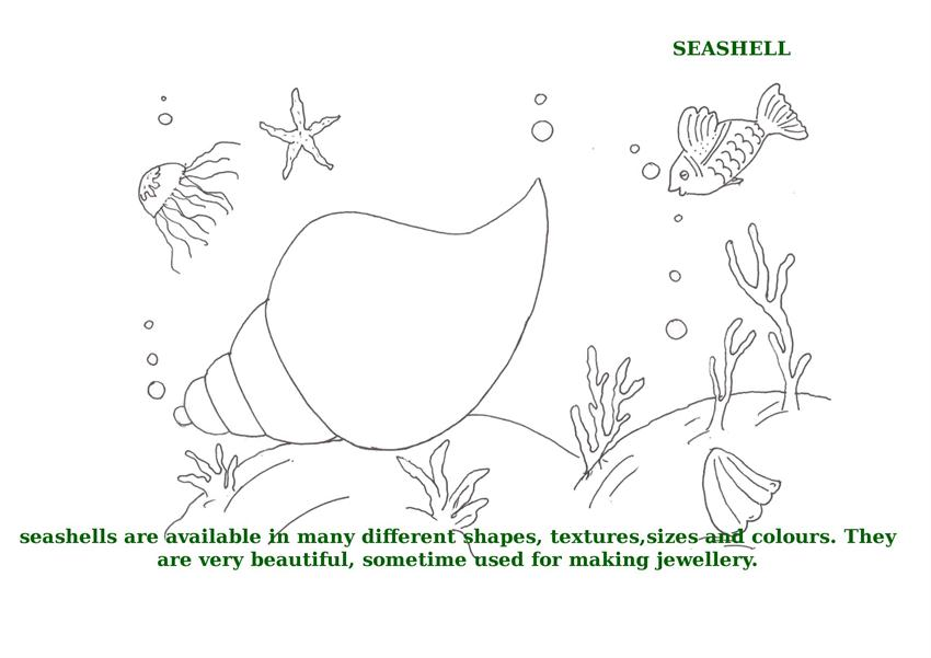 Ocean Animals Printable Coloring Pages for kids 8