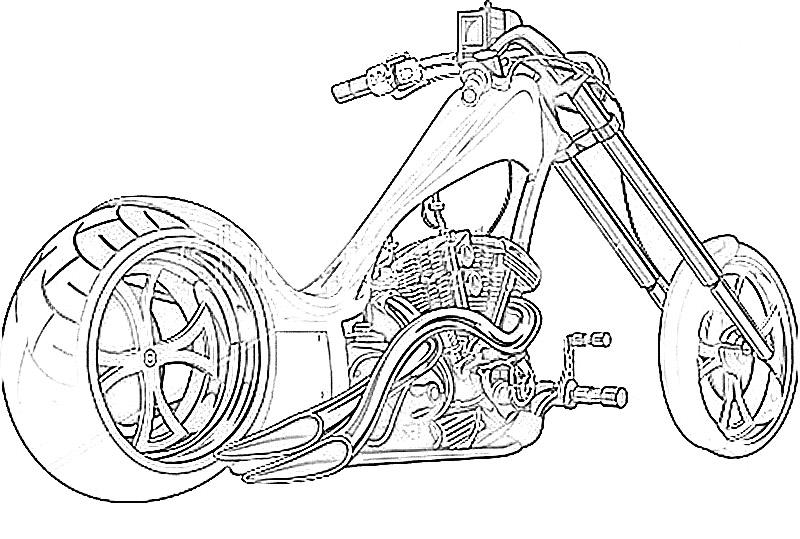 Motor Bikes printable coloring pages for kids 6