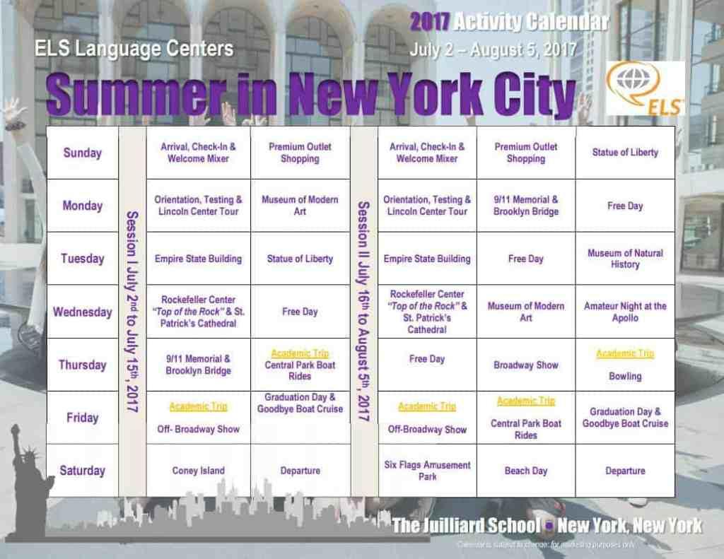 學無界ELS美國紐約茱莉亞音樂學院半自助遊學夏令營