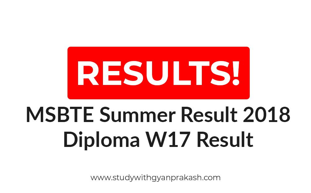 msbte result summer 2019