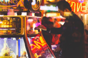 man gambling