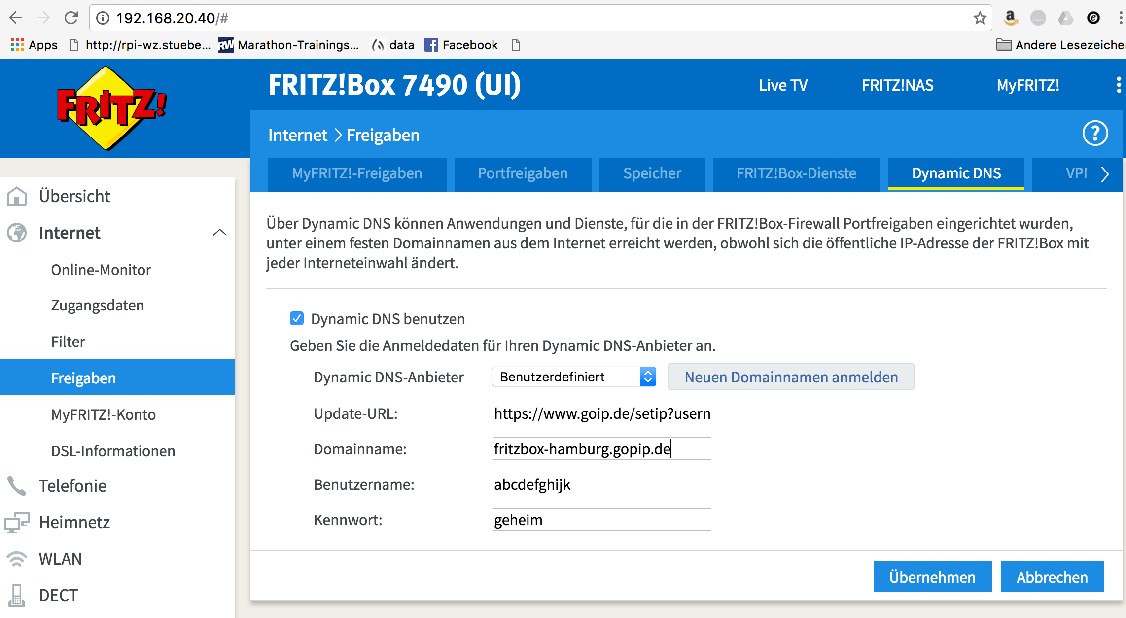 Synology Dyndns Fritzbox