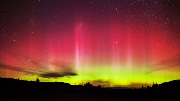 The aurora over the Mackenzie District, taken by Maki Yanagimachi.