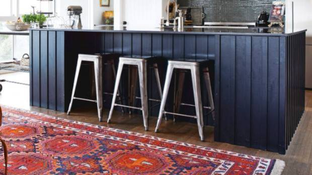 A nice rug can easily disguise a floor you might want hidden.