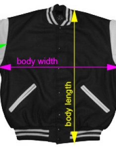 This chart shows the measurements for each area of  varsity letterman jacket we suggest that you compare these to another also stuff greeks sizing rh